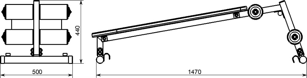 Скамья трансформер KSW